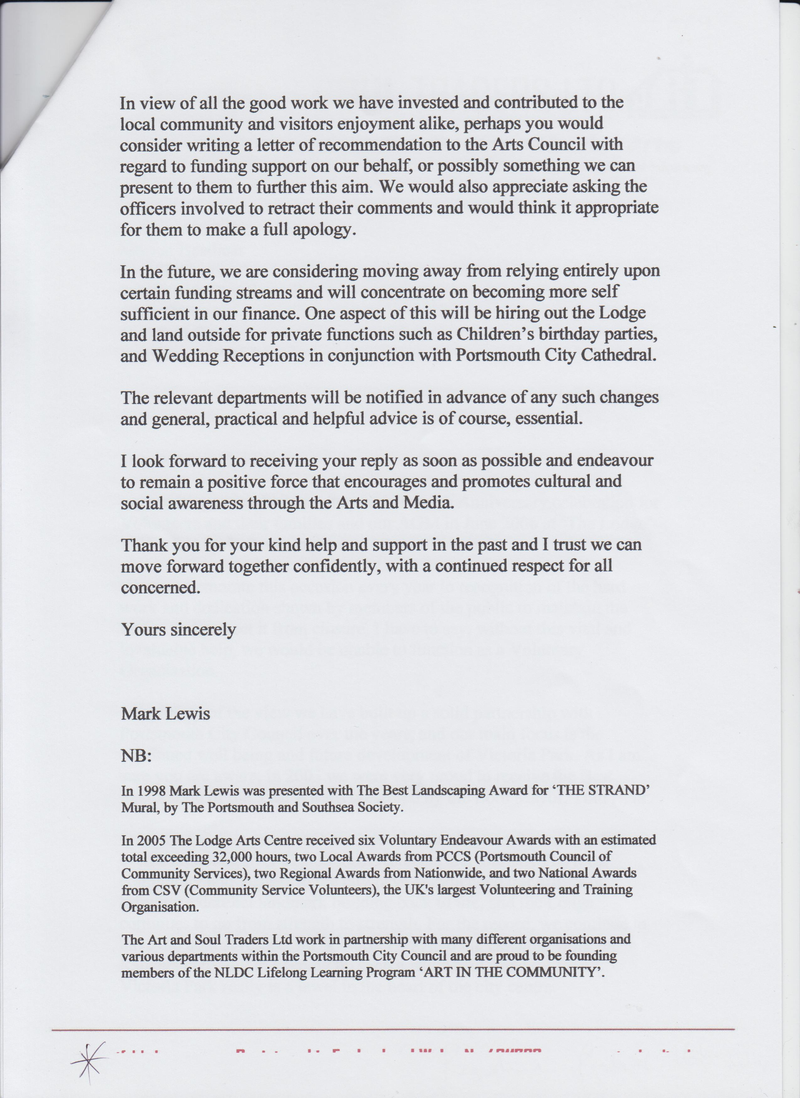 2006 May PCC Head Marion Headicar complaint 2007 page 3